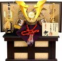 【五月人形 送料無料】龍玉作 「立体大鍬形 兜」収納飾り《15409》