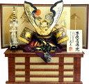【五月人形 送料無料】武光作 「透かし紋様深彫鍬形 子供着用兜」収納飾り《3277》