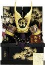 【五月人形 送料無料】祐月作 会津塗「龍虎 松葉金貫前」 着用兜 収納飾り《515》