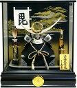 【五月人形 送料無料】久月作 家紋「上杉謙信 兜」ケース飾り《K51746》