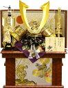 【五月人形 送料無料】龍玉作 「立体中鍬形 兜」収納飾り《10372》