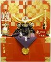 【五月人形 送料無料】久月作 家紋「上杉謙信 兜」 コンパクト収納飾り《1109》