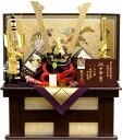 【五月人形 送料無料】龍玉作 東京都知事指定 伝統工芸品「江戸甲冑 山水兜」収納飾り《H15426》