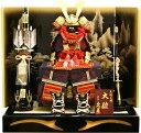 【五月人形 送料無料】久月作 家紋「金小札赤絲縅」 鎧飾り《2039》