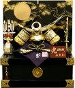 【五月人形 送料無料】久月作 家紋「上杉謙信兜」 コンパクト収納飾り《1260》