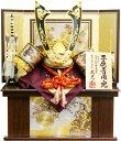 【五月人形 送料無料】武光作 「立体炎柄金具付中鍬形 着用兜」収納飾り《RA3014》