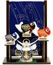 【五月人形 送料無料】上杉謙信兜・鯉のぼり タペストリー段差飾り《48EM-53》
