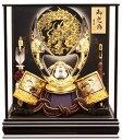 【五月人形 送料無料】吉徳大光作 「立体大鍬形 着用兜」 ケース飾り《539-811》