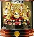 【五月人形 送料無料】久月作 家紋「大鍬形 兜」アクリルケース飾り《K51058》