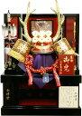 【五月人形 送料無料】宝童作 会津塗「真田幸村 六文銭着用 正絹兜」収納飾り《MA-77》