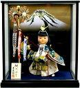 【五月人形 送料無料】吉徳大光作 武者人形「鯉のぼり」ガラスケース飾り《503-321》
