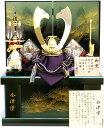 【 五月人形 送料無料 】 祐月作 「 正絹 剥ぎ合わせ兜 」 収納飾り ( 554 )