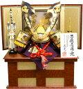 【 五月人形 送料無料 】武光作「 深彫大鍬形 子供着用兜 」収納飾り( G3016 )