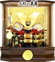【五月人形 送料無料】久月作 家紋「御兜」アクリル パノラマケース飾り《K515111》