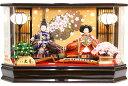 【雛人形 送料無料】久月作 「よろこび雛」二人親王 アクリルパノラマケース飾り (66363)