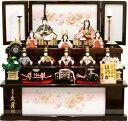 【雛人形 送料無料】久月 木村綾作 「ほのか 結香雛」十人 木目込み 三段収納飾り《36058》