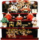 【雛人形 送料無料】千匠作 「雛ごよみ」 三段収納飾り《45A-34》