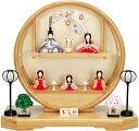 【雛人形 送料無料】 大里彩作 江戸木目込人形「ももか」 五人飾り《45-FK221》