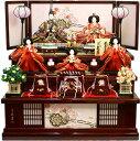 【雛人形 送料無料】久月作 「よろこび雛」 収納式 三段飾り《S-29240》