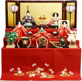 【雛人形 送料無料】吉徳大光 毛氈「御雛」五人 三段飾り《606-166》