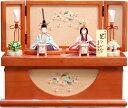 【雛人形 送料無料】吉徳大光 一秀作 木目込み人形「花ひいな 桃山雛」 親王収納飾り《336-543》