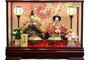 【雛人形 送料無料】久月作 「よろこび雛」二人親王 ケース飾り《5898》