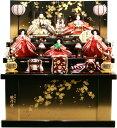 【雛人形 送料無料】吉徳大光 駿河塗「花ひいな」五人 収納式三段飾り《606-729》