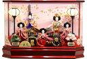 【雛人形 送料無料】久月作 「よろこび雛」五人 アクリルケース飾り 《65335》