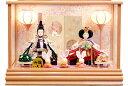 【雛人形 送料無料】久月作 「よろこび雛」二人親王 ケース飾り《65623》