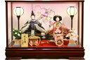 【雛人形 送料無料】久月作 「よろこび雛」二人親王 ケース飾り《65981》