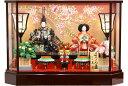 【雛人形 送料無料】久月作 「よろこび雛」二人親王 ケース飾り《69802》