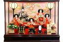 【雛人形 送料無料】久月作 「よろこび雛」五人ケース飾り《69811》