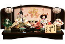 【雛人形 送料無料】久月作 「よろこび雛」二人 親王平飾り《S-30101》