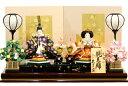 【雛人形 送料無料】久月 光園作「親王飾り」二人平飾り《S-30109》