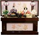 【雛人形 送料無料】久月作 「よろこび雛」二人親王 コンパクト収納飾り《S-30183OU》