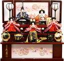 【雛人形 送料無料】久月作 「よろこび雛」 収納式 三段飾り《S-30231》
