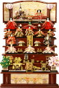 【雛人形 送料無料】久月作 「よろこび雛」木製 七段飾り《S-3081》