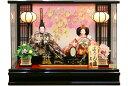【雛人形 送料無料】久月作 「よろこび雛」二人親王 パノラマケース飾り《69848》