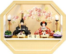 【雛人形 送料無料】フジキ工芸作 壁掛け「紙音」 二人親王飾り《4E11-ST-198F》
