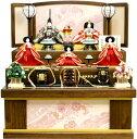 【雛人形 送料無料】吉徳大光 伝統紋様裂地「御雛」五人 収納式三段飾り《606-632》