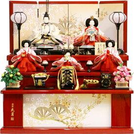 【雛人形 送料無料】久月作 「よろこび雛」 収納式 三段飾り《S-32245OU》