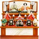 【雛人形 送料無料】久月作 「よろこび雛」 収納式 三段飾り《S-32251》