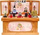 【雛人形 送料無料】久月作 「ほのか 虹彩雛」木目込み五人収納飾り《67958》