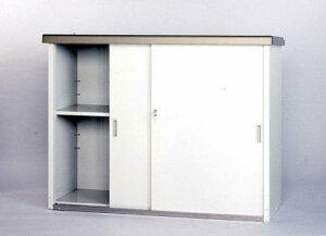 【送料無料 一部地域除く】グリーンライフ 物置 家庭用収納庫 小型収納庫 HMG-1310 幅134×奥52×高100cm[※代引不可]