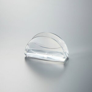 【光】透明アクリル製メモ・カードホルダー クリア K-123B