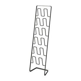 【在庫あり】【山崎実業】スリッパラック フレーム 6足用 スリム ブラック 4703