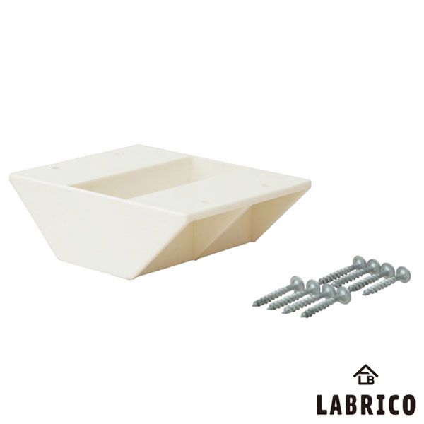 【即納】【送料特価】 LABRICO ラブリコ 2×4棚受 ダブル DXO-3 オフホワイト