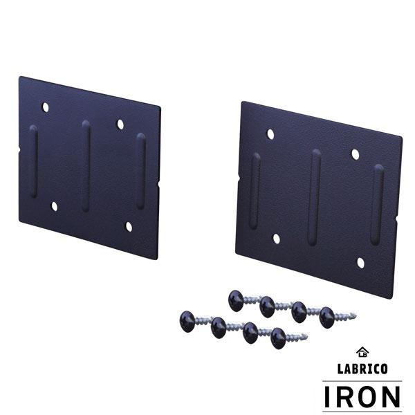 【即納】【送料特価】 LABRICO ラブリコ IRON アイアン 2×4/1×4 ジョイント アイアン ブラック IXK-4 ブラック