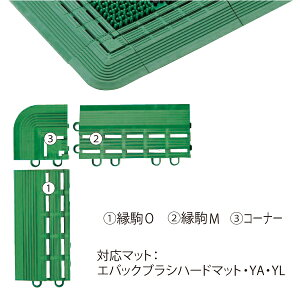 エバックブラシハードマット(縁駒O)F-114-FO サイズ75×150×t18mm[CONDOR(コンドル)] [※代引不可]
