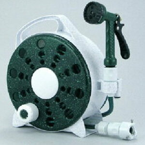 【三洋化成】ハンディープチリール HDP-G15GR 7mm防藻ネット ホース 15m ダークG ステップ6ノズル 蛇口用プラグセット